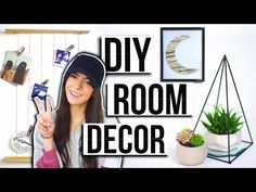 DIY Room Decor Pinterest Inspired! Easy + Affordable! Summer 2016 - YouTube