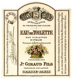 ALTERED ARTIFACTS: French Perfume Label Eau de Toilette Free Printable