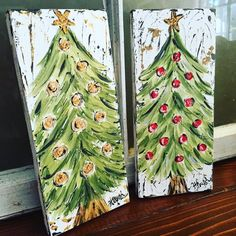 Items similar to Christmas tree painting, christmas decorations, handpainted, rustic Christmas, christmas gift on Etsy Christmas Tree Painting, Christmas Canvas, Christmas Signs, Rustic Christmas, Christmas Projects, Christmas Art, Holiday Crafts, Vintage Christmas, White Christmas