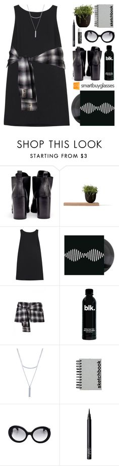 """""""Smartbuyglasses Contest"""" by anilovic ❤ liked on Polyvore featuring Cheap Monday, Menu, RED Valentino, BERRICLE, Paperchase, Prada, NARS Cosmetics, Chapstick, sunglasses and totalblackout"""