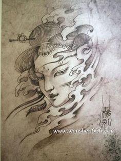 C Tattoo, Doll Tattoo, Yakuza Tattoo, Lotus Tattoo, Chest Tattoo, Mandala Tattoo, Asian Tattoos, Love Tattoos, Tatoos