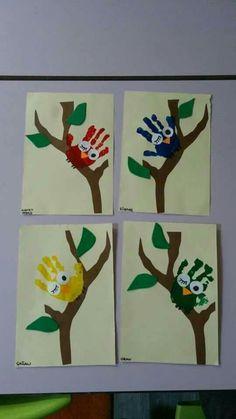 Preschool, kindergarten, as the most preferred pre-school education . - # preferred # kindergarten # most # pre-school Spring Art, Spring Crafts, Kindergarten Art, Preschool Activities, Painting For Kids, Art For Kids, Trees For Kids, Footprint Art, Handprint Art