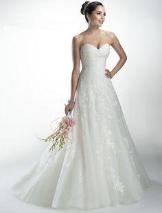 Bridesire - A-Lijn Liefje Mouwloos Bruidsjurk [158694] - €194.05 : Bridesire
