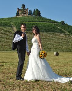 My real bride's destination wedding. Grinzane Cavour ,Castle in Piedmont, Italy. There are seven other castles in this fairytale land. #destinationweddings #Italy
