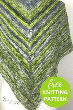 Easy! One Skein Shawl Free Knitting Pattern using Schoppel Zauberball Starke 6 Yarn