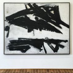 """Freud Monk Gallery (@freudmonkgallery) on Instagram: """"FRANZ KLINE.  His paintings have the appearance of quick and brash gestures, but unlike Jackson…"""""""