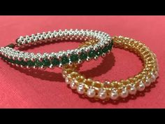 Right Angle Weave, Sewing Crafts, Weaving, Handmade Jewelry, Jewelry Making, Beaded Bracelets, Beads, How To Make, Tube Video