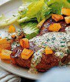Hovězí steak s hořčičnou omáčkou Steak, Beef, Foods, Meat, Food Food, Food Items, Steaks