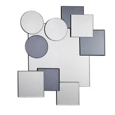 Contemporary and refreshingly stylish, the Flatland Mirror's artful design is composed of geometric mirrors overlapping for a bold effect. The crisp accent will bring eye-catching style to your bedroom, den, or office.