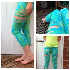 Tie dye | Braided | Leggings | Size 12
