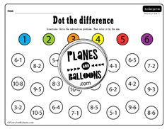 Subtraction from 10 worksheets - Planes & Balloons | Let's make learning fun! Kindergarten Addition Worksheets, Subtraction Kindergarten, Addition And Subtraction Worksheets, Kindergarten Math Activities, Sight Word Practice, Sight Word Games, Nonsense Words, Math Lessons, Reading Comprehension