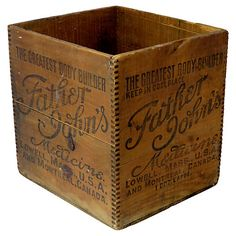 One Kings Lane Vintage Antique Wood Medicine Shipping Box Wooden Crate Boxes, Vintage Wooden Crates, Wood Crates, Vintage Tins, One Kings Lane, Crates For Sale, Box Roses, Vintage Medical, Antique Boxes