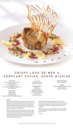 Celebrity Cruise Line Recipes - Crispy Loup de Mer & Eggplant Caviar with Sauce Nicoise