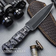 ALONZO KNIVES USA CUSTOM HANDMADE COMBAT DAGGER 1095 KNIFE PAKKA WOOD 1544 #AlonzoKnives