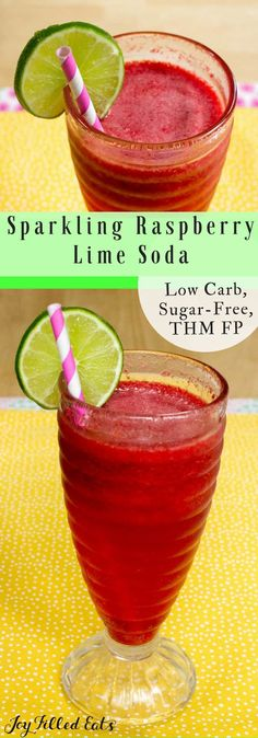 Sparkling Raspberry Soda - Low Carb, Sugar Free, THM FP - If you are in need of a refreshing summer beverage you are in the right place. My fast and easy Sparkling Raspberry Soda will hit the spot.