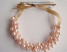 Beaded Pearl Necklace PATTERN tutorial wire gorgeous easy