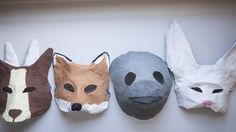 How to make Paper Mache Animal Masks. - Lexie