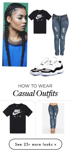 """Casual"" by ashleysdesigns on Polyvore featuring NIKE and Concord"