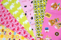 Japanese fabric scrap animals Si82 by beautifulwork on Etsy, $6.50