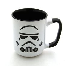 (via Star Wars R Storm Trooper Mug Black handle Stoneware by LennyMud).