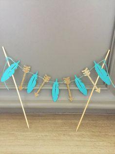 Torta tribal Topper•Feathers Arrows•Wild uno Banner•Boho Decor•Dreamcatcher fiesta Banner•Pow Wow•Teepee•Southwestern Azteca bohemio Decor