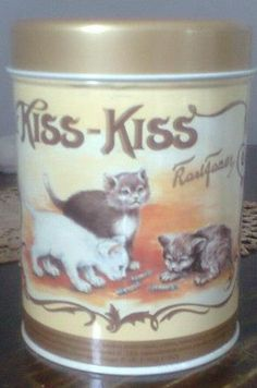 Kiss-Kiss <3 Finland Facts, Good Old Times, Vintage Tins, Ancient History, Nostalgia, Old Things, Memories, Graphic Design, Cat Stuff