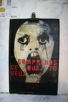 affiche / poster / sur masonite / 021 / par tetedecaboche1965, $30,00
