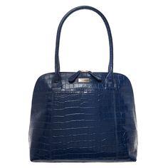 Dark Blue Leather Grab Bag for £69.99 #fabfind
