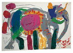 Circus elephantbyRoger Hilton, 1973