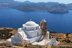 Milos, Plaka, view of the church of Panagia Thalassitra - Greece
