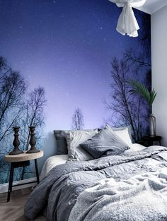 Super Home Wallpaper Bedroom Wall Murals Ideas Home Wallpaper, Nature Wallpaper, Forest Wallpaper, Landscape Wallpaper, Trendy Wallpaper, Wall Murals Bedroom, Painted Wall Murals, Wall Paper Bedroom, Wall Art