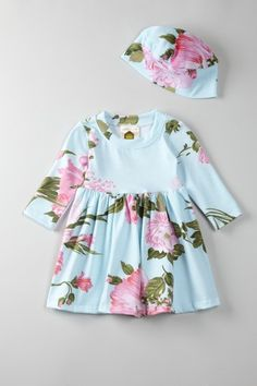 Barn Organics  Floral Dolly Dress With Hat  $17.00. Umm ADORABLE!
