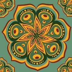 mandala Art Print by Olillia | Society6