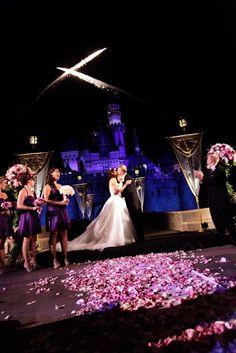 Disney Wedding Inspiration: Disney Weddings and Fireworks: A Magical Combination!