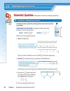 MULTIPLYING FRACTIONS  Dynamic Student Edition - Chapter 2 - Section 3 5th Grade Classroom, 5th Grade Math, Multiplying Fractions, Dividing Fractions, Teaching Math, Teaching Ideas, School Organization, 5th Grades, Classroom Activities