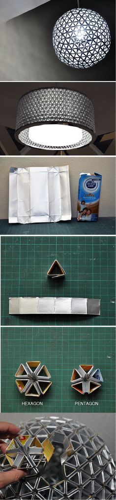 DIY Tetrapack Lamp - Cool abordable project. Awesome when finished!
