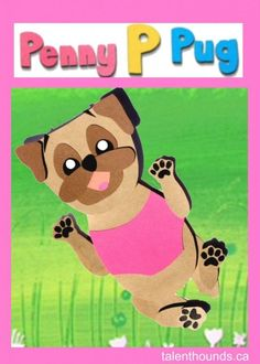 Penny P Pug adorable illustrated Puppy image: