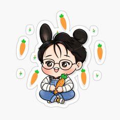 """Director Jungkook"" Sticker by Mervilluu   Redbubble Jungkook Fanart, Jungkook Cute, Chibi Wallpaper, Cartoon Wallpaper Iphone, Bts Drawings, Cool Art Drawings, Bts Chibi, Bts Hoodie, Cute Laptop Stickers"