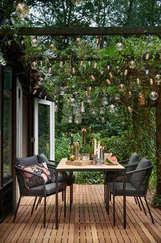 Outdoor Areas, Outdoor Rooms, Outdoor Dining, Outdoor Decor, Small Balcony Design, Patio Design, Garden Design, Garden Cottage, Home And Garden
