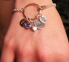 Hand Stamped Jewelry Personalized Pregnant by BeeBaublesJewelry, $35,00 #MetalJewelry