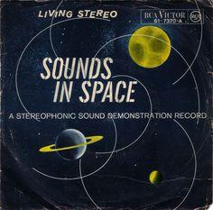 """Sounds in Space. Edición en disco de 45 R.P.M. y 7"""". 61-7370"""