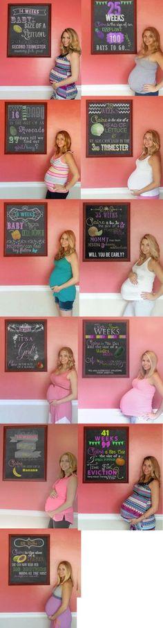Personalized Week By Week Pregnancy Chalkboards - Photoshopped - Weekly…