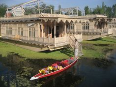 This is one of the famous houseboats in Srinagr in Kashmir. War has destroyed the tourist industry, but I have very fond memories of staying on a similar boat. To this day, I consider Srinagar the most beautiful place on Earth.