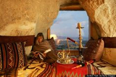 """Located in Cappadocia, the Museum Hotel is a luxury retreat that also considers itself a """"living museum."""" The hotel combines history, nature and luxury in a way few other hotels can. #turkey #travel #hotel"""