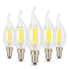 Albrillo 40 Watt Replacement, 4W E12 LED Bulb for Candelabra Base, 5 Pack - - Amazon.com