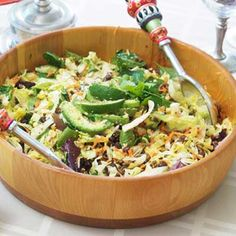 LOADED TACO SALAD: This salad has everything you need for a delicious meal. It's simple and provides protein and servings of vegetables tossed together in one dish.