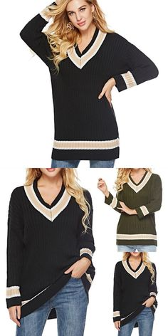 Contrast color winter sweater women 2018 long sleeve jumper women sweater  and pullover knitted sweater female 0bcf457b7da0