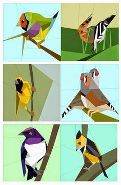 Quilt Art Designs: Pájaros, pájaros, pájaros .....