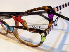 These colorful unique hand painted frames by Roni Dori-Ronex Eyewear