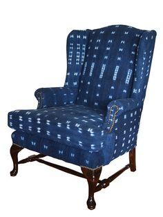 indigo home office. Enitan Vintage Mali Indigo Chair Silo.jpg Home Office